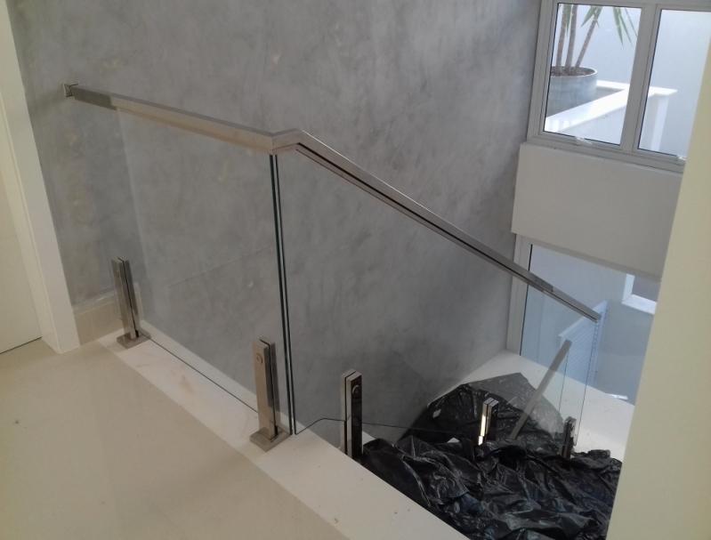 Muitas vezes Corrimão com Vidro Preço Residencial Onze - Corrimão de Vidro para  YO14