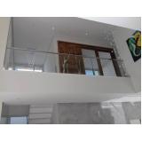 corrimão com vidro e inox valor Campo Grande