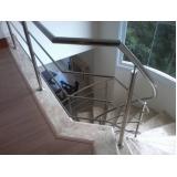 corrimão com vidro para escada preço Jardim Bonfiglioli