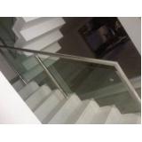 corrimão com vidro para escada Vila Clementino