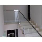 corrimão com vidro temperado valor Campo Belo