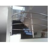 corrimão de escada com torre preço CECAP