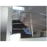 corrimão de inox para escada caracol preço Jurubatuba