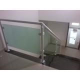 guarda corpo de vidro para escada preço Água Branca