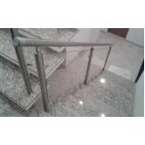 onde encontro corrimão com vidro para escada Vila Romana
