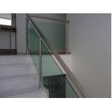 onde encontro venda de guarda corpo de vidro para escada Residencial Oito