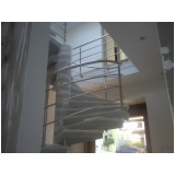 orçamento de corrimão de inox para escada caracol Residencial Cinco