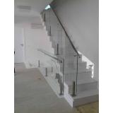 orçamento de guarda corpo de vidro para escada Residencial Onze