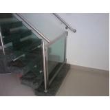 quanto custa corrimão com vidro para escada Residencial Dez