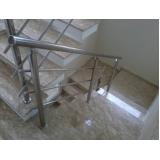 quanto custa corrimão de escada com torre Bosque Maia