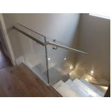 venda de corrimão de aço inox com vidro valor Água Branca