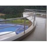 venda de corrimão de inox para piscina preço Água Chata