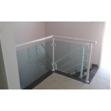 venda de guarda corpo de alumínio e vidro valor Perus