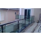 venda de guarda corpo de vidro preço Jardim Bonfiglioli