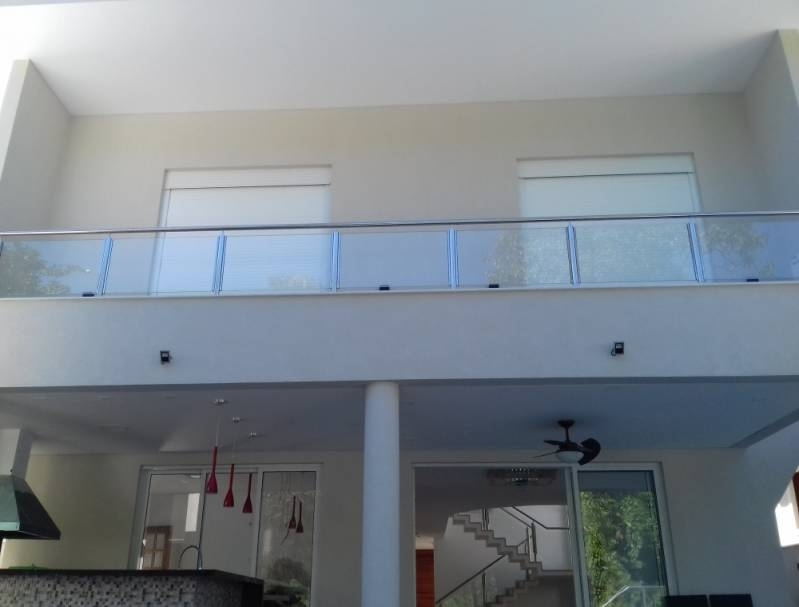 Corrimão Aço Inox com Vidro Valor Alphaville Conde I - Corrimão Torre