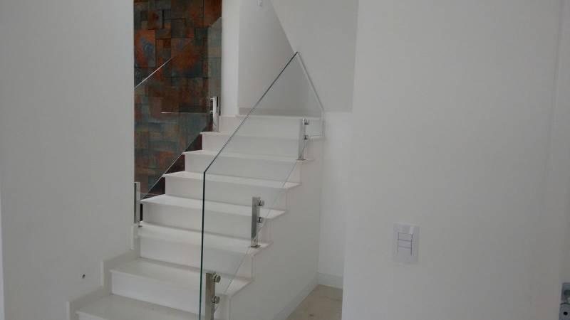 Corrimão de Vidro Torre Preço Raposo Tavares - Corrimão de Escada com Torre