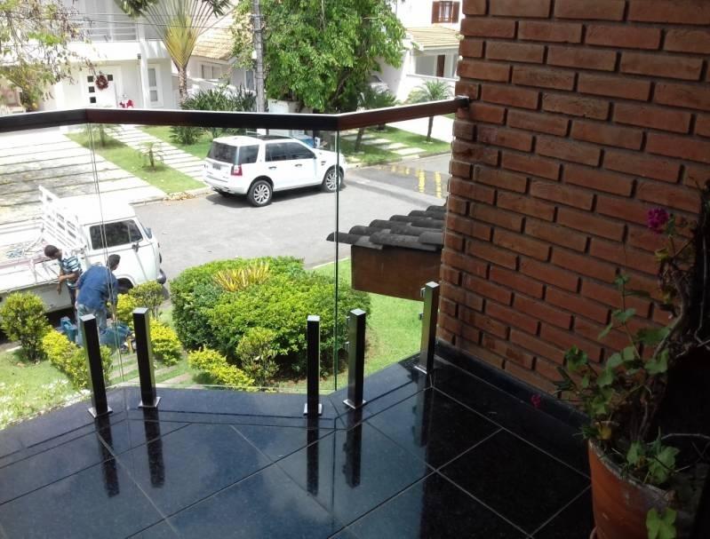 Corrimão de Vidro Torre M'Boi Mirim - Corrimão com Vidro e Inox