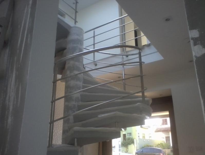 Orçamento de Corrimão de Inox para Escada Caracol Jabaquara - Corrimão de Inox para Banheiro