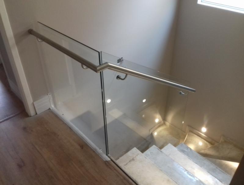 Quanto Custa Corrimão de Aço Inox com Vidro Raposo Tavares - Corrimão de Inox para Banheiro