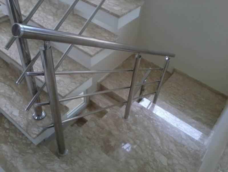 Quanto Custa Corrimão de Escada com Torre Campo Grande - Corrimão de Torre com Vidro