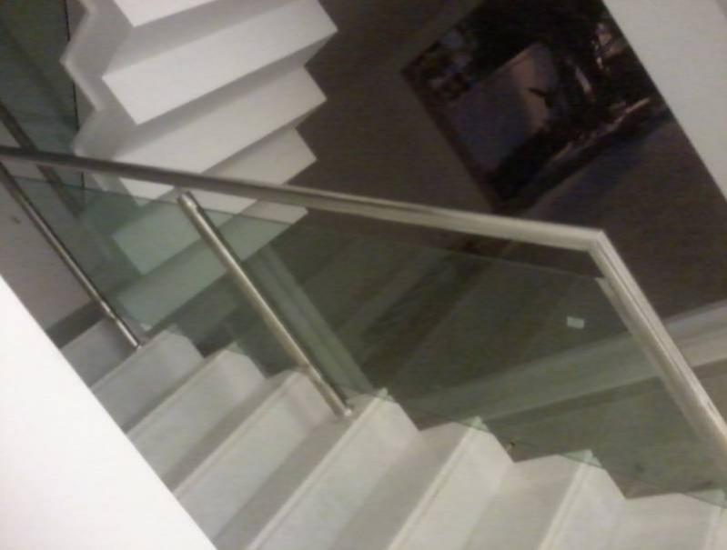 Quanto Custa Corrimão de Vidro com Torre Grajau - Corrimão com Vidro para Escada