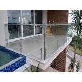 corrimão de aço inox com vidro Itapegica