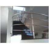 corrimão de inox para escada caracol preço Jardim Bonfiglioli