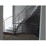 corrimão de inox para escada caracol Alphaville Conde II