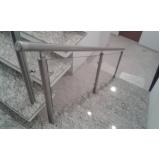 corrimão de vidro para escada preço Moema