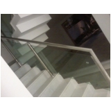 corrimão de vidro para escada Moema