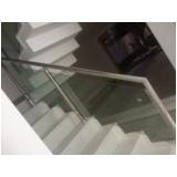 corrimão de vidro para escada Alphaville Residencial Plus
