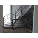 corrimão para escada helicoidal preço Jardim São Luiz