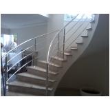 corrimão para escada helicoidal Brooklin