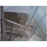 corrimãos de inox para escada caracol Santana de Parnaíba
