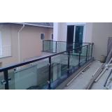guarda corpo de alumínio e vidro preço Residencial Onze