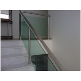 guarda corpo de vidro para escada Macedo