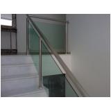 guarda corpo de vidro para escada Jardim Guedala