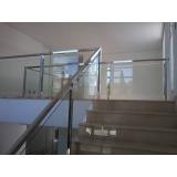 guarda corpos de vidro para escada Brooklin