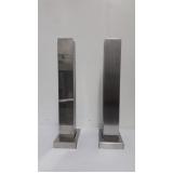onde comprar torre de inox para guarda corpo de vidro Butantã