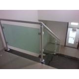 onde encontrar venda de guarda corpo de vidro para escada Capão Redondo