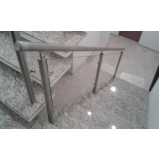 onde encontro corrimão com vidro para escada Alphaville Residencial Dois