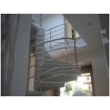 orçamento de corrimão de inox para escada caracol Parelheiros