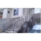 orçamento de corrimão de inox para escada Alto da Lapa