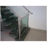 orçamento de corrimão de vidro para escada Bairro Vila Jundiaí