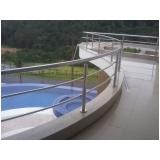 quanto custa corrimão de inox para piscina Bairro Vila Jundiaí
