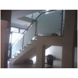 quanto custa corrimão de vidro para escada Jardim Aracília