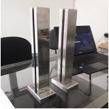 torre de inox para guarda corpo de vidro valores Perus