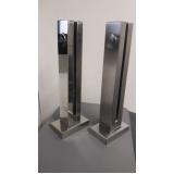 torre de aço inox para guarda corpo