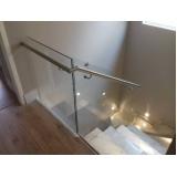 venda de corrimão de aço inox com vidro valor Vila Barros