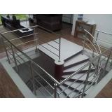 venda de corrimão de inox para escada caracol valor Macedo